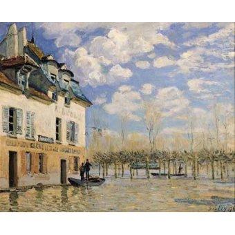 - Quadro -Inundación en Port-Marly- - Sisley, Alfred