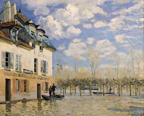 quadros-de-paisagens - Quadro -Inundación en Port-Marly- - Sisley, Alfred