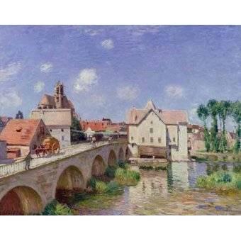 - Quadro -El puente de Moret- - Sisley, Alfred