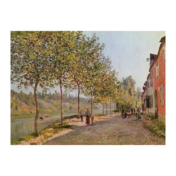 pinturas de paisagens - Quadro -Mañana de Junio en Saint-Mammes-