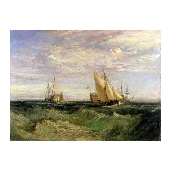 pinturas de paisagens marinhas - Quadro -La confluencia entre el Tamesis y el Medway-