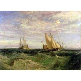 - Quadro -La confluencia entre el Tamesis y el Medway- - Turner, Joseph M. William