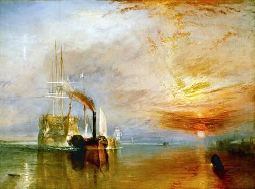 quadros-de-paisagens-marinhas - Quadro -The Fighting Temeraire- - Turner, Joseph M. William
