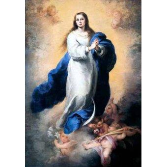 quadros religiosos - Quadro -Inmaculada Concepción del Escorial- - Murillo, Bartolome Esteban