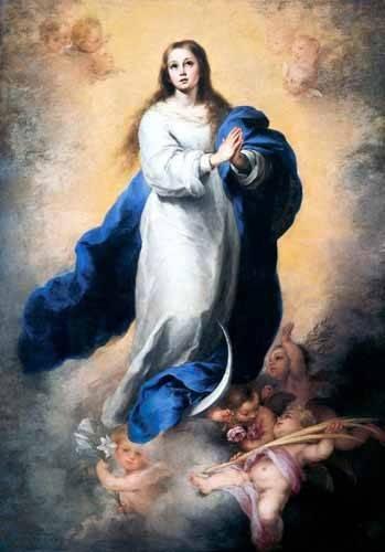 cuadros religiosos - Cuadro -Inmaculada Concepción del Escorial- - Murillo, Bartolome Esteban