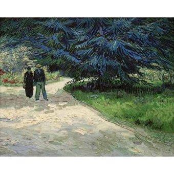 quadros de paisagens - Quadro -Pareja en un parque de Arles- - Van Gogh, Vincent