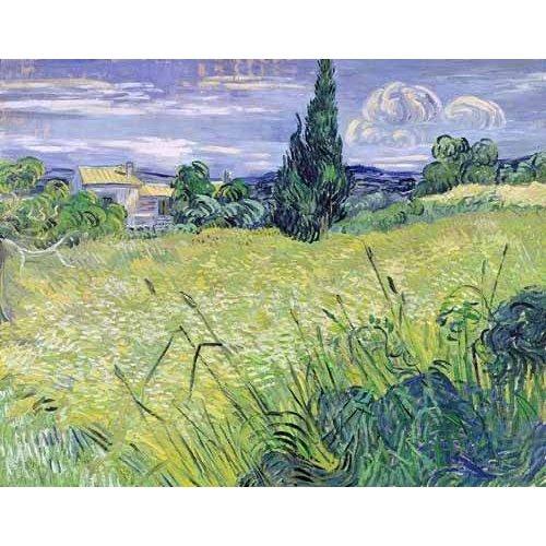 pinturas de paisagens - Quadro -Paisaje con maíz verde-