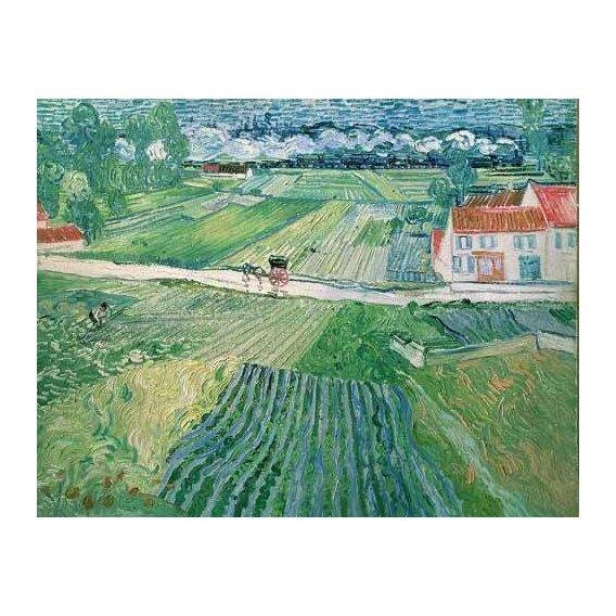 pinturas de paisagens - Quadro -Paisaje en Auvers despues de llover-