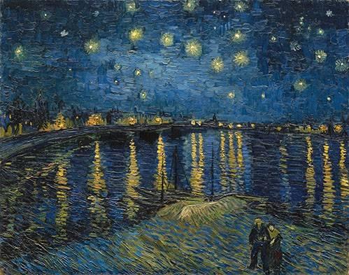 quadros-de-paisagens - Quadro -The starry night- - Van Gogh, Vincent