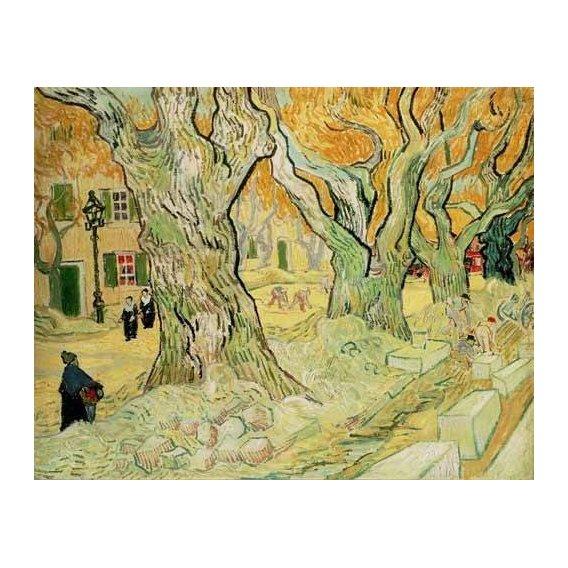 pinturas de paisagens - Quadro -Los empedradores-
