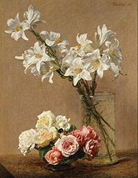 cuadro flores fantin